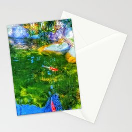 Glowing Reflecting Pond Stationery Cards