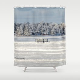 Afternoon Ice Fishing Shower Curtain