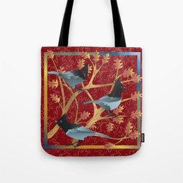 Stellar Jays in Oak Tree Tote Bag