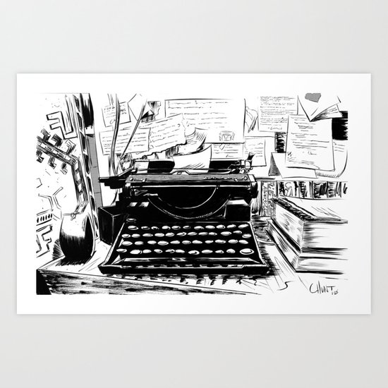 Shakespeare and Company Art Print