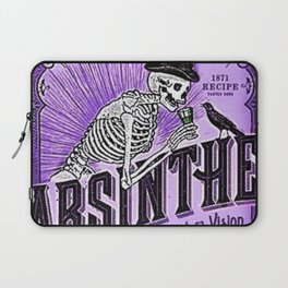 Vintage 1871 Purple Absinthe Liquor Skeleton Elixir Aperitif Cocktail Alcohol Advertisement Poster Laptop Sleeve