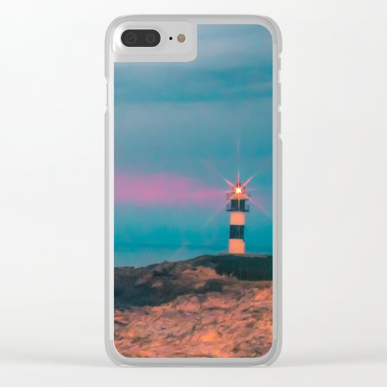 Lighthouse of the Isla Pancha Clear iPhone Case