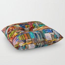 World Traveler Book Shelf Floor Pillow