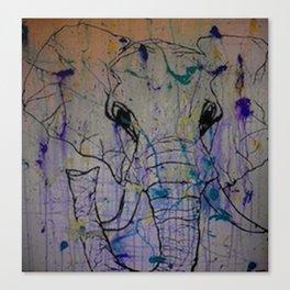 Splattered Life Canvas Print