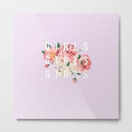 girls flowers Metal Print