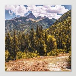 San Juan Mountains Over the Animas River - Silverton Colorado Canvas Print