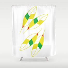 Nature Spring Leaves Shower Curtain