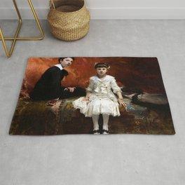 John Singer Sargent - Portrait of Édouard and Marie-Louise Pailleron Rug