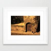 door Framed Art Prints featuring door by Crazy Thoom