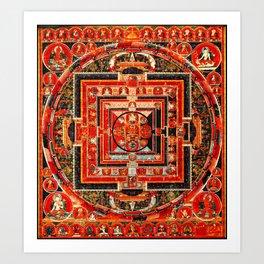 Mandala Manjushri Bodhisattva Transcendent Wisdom Art Print