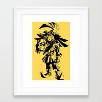 majoras mask Framed Art Prints featuring Skullkid / zelda / majoras mask by tshirtsz