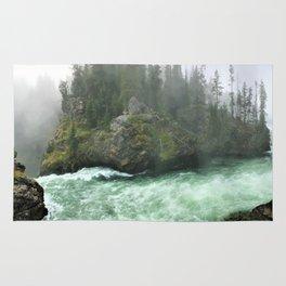 Yellowstone Falls Fog Rug