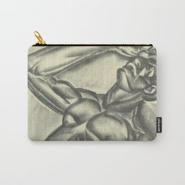 Not a Spiritual by Iver Rose WPA Era Social Realism African American Lithograph Carry-All Pouch