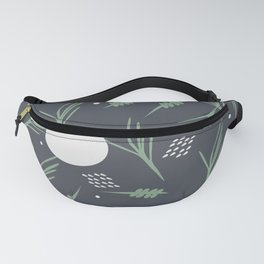 Botanical Greenery Floating Potted Plants Pattern Fanny Pack