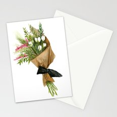 Flowers in Brown Paper - Watercolor Stationery Cards