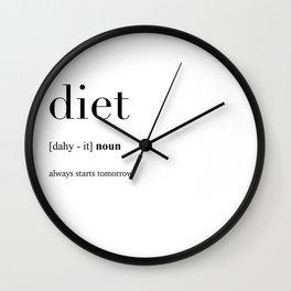 Diet definition Wall Clock
