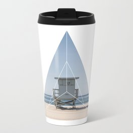 Beach Life  Geometric Photography Travel Mug