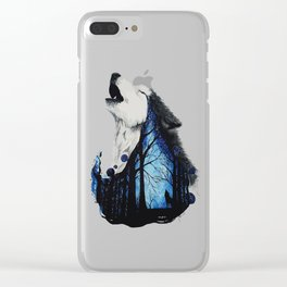 The wail of a wolf Clear iPhone Case