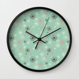 Poised Posies by Deirdre J Designs Wall Clock
