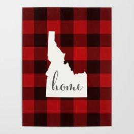 Idaho is Home - Buffalo Check Plaid Poster
