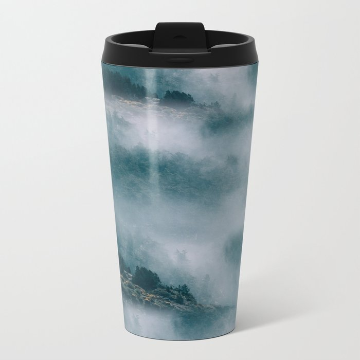 Landscape Mountains Metal Travel Mug