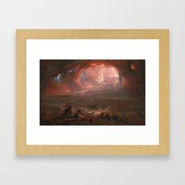 John Martin 1789–1854   The Destruction of Pompei and Herculaneum Framed Art Print