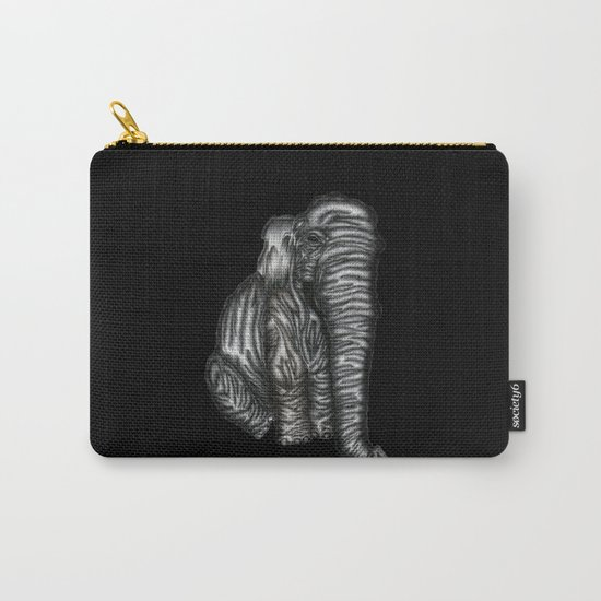 Herman in Black Carry-All Pouch