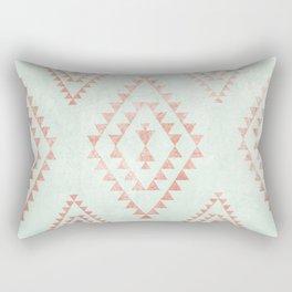 mint & coral tribal pattern Rectangular Pillow