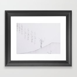 Whiteout I Framed Art Print