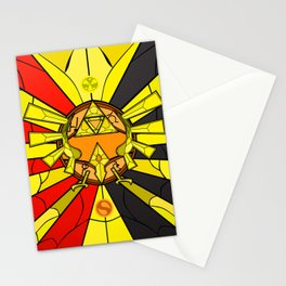 legend of zelda triforce Stationery Cards
