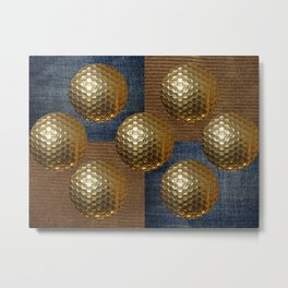 GOLD GOLF Metal Print