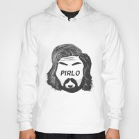 pirlo Hoodies featuring Pirlo B&W by wearwolves