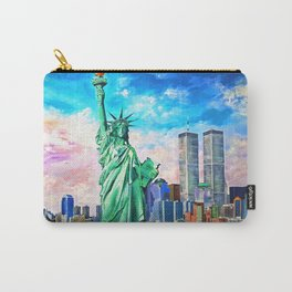 NYC, WTC, Twin Towers, Statue of Liberty Carry-All Pouch