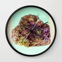 mineral Wall Clocks featuring Mineral Love by Danny Ivan