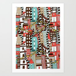 The City of Towers Art Print