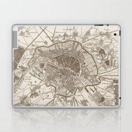 Vintage Map of Paris France (1805) Laptop & iPad Skin
