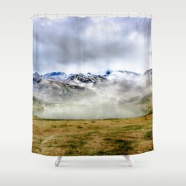 Lago Ercina in National park Picos de Europa Shower Curtain