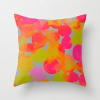 community Throw Pillows featuring COMMUNITY by Rebecca Allen