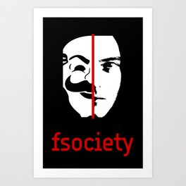 We Are The fsociety (RED) Art Print