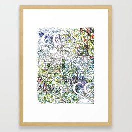 Oil Ink Framed Art Print