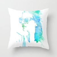 model Throw Pillows featuring MODEL by Happy as Flynn