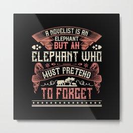 Elephant Quote - 03 Metal Print