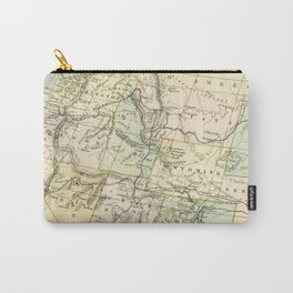 Vintage Map of the West Of The United States Carry-All Pouch