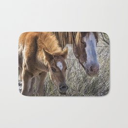 Wild Foal with Dad Bath Mat