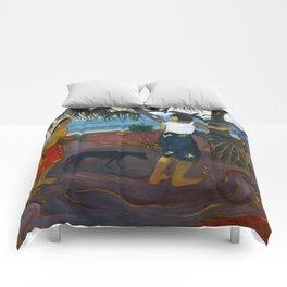 Under the Pandanus by Paul Gauguin Comforters