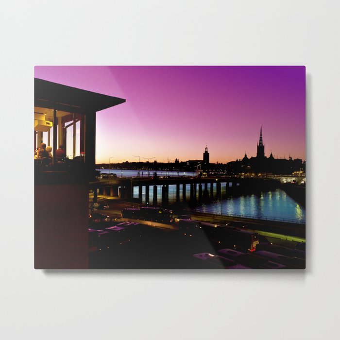 Sunset over Stockholm - Landscape Photography Metal Print