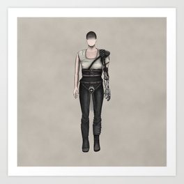 Furiosa without a face (MadMax) Art Print