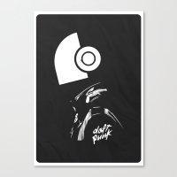 daft punk Canvas Prints featuring Daft Punk by Artisto Designz