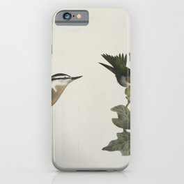 1306 87 The Red throated Hummingbird male and female (Trochilus colubris) 88 The Red bellied Nuthatch (Sitta canadensis)26 iPhone Case