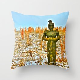Winter's Knight Throw Pillow